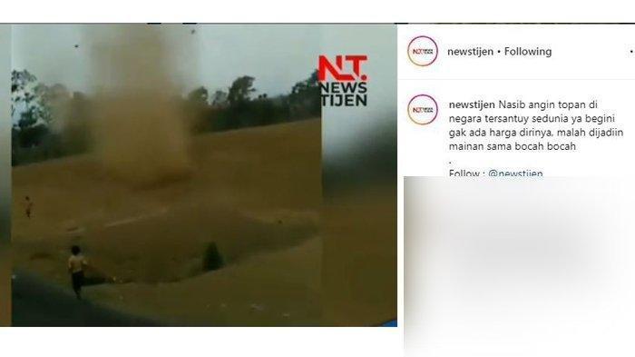 Video Viral, Anak-anak ini Sungguh Berani, Kejar dan Bermain-main di Pusaran Angin Puting Beliung