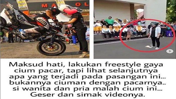 Aksi Freestyle Pengendara Motor Lakukan 'Kecup' Pacar Jadi Viral, Si Wanita Dikecup ini