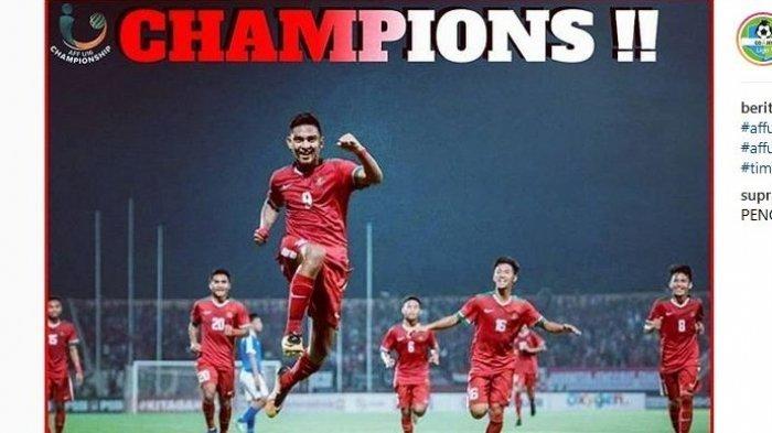 Menang Adu Penalti Lawan Thailand, Indonesia berhasil menjuarai Piala AFF U-16 2018