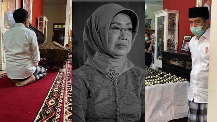 Potret Pilu Jokowi Setia Berada di Dekat Almarhum Sujiatmi Notomiharjo, Raut Sendu dan Mata Sembab