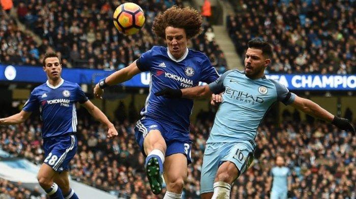Bek Chelsea David Luiz Bicara Soal Tackle Brutal Sergio Aguero