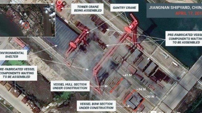 Citra Satelit Ungkap China Bangun Kapal Induk Ketiga Jauh Lebih Modern