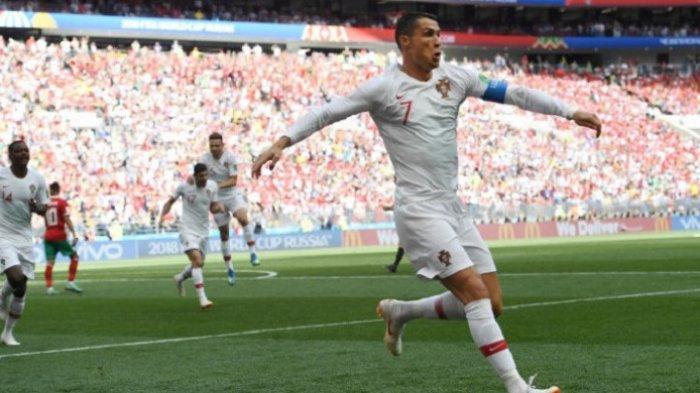Cristiano Ronaldo Cetak Gol Lagi Dimenit Awal Pertandingan, Babak Pertama Ungguli Maroko 1-0