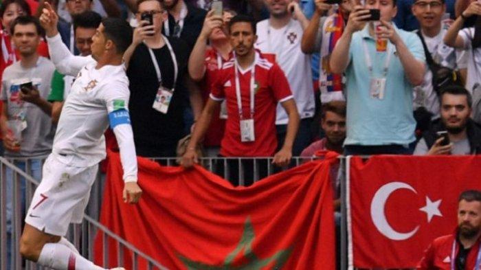 Tandukan Cristiano Ronaldo Diawal Babak Pertama Pulangkan Maroko dari Piala Dunia 2018