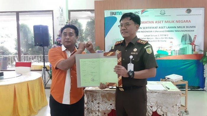Kejari Belitung Selamatkan Aset PT Pelindo Cabang Tanjungpandan Senilai Hampir Satu Miliar