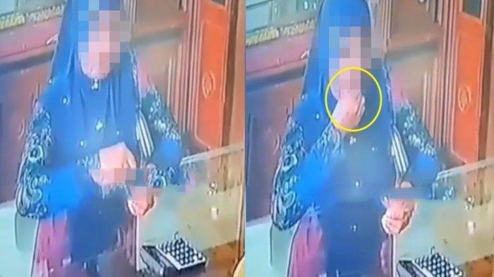 Aksi Ibu-ibu Curi Emas Terekam CCTV, yang Dilakukannya Bikin Geleng Kepala, Simak Videonya!