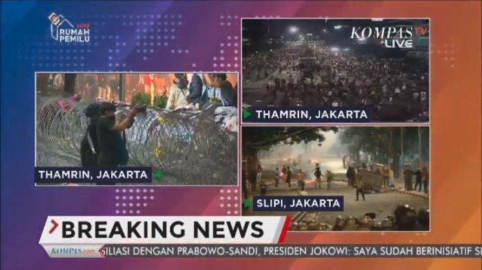 SIARAN LANGSUNG Kabar Terkini Jakarta di Aksi Massa 22 Mei, Kericuhan Kembali Terjadi