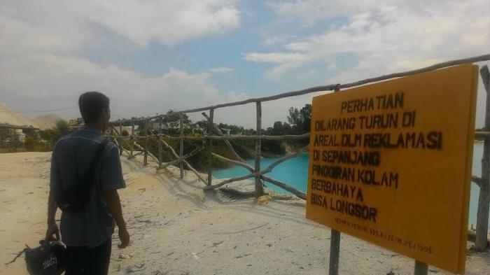(Video) Danau Biru Dipasangi Pagar, Ketinggiannya Disarankan Tidak Lebih Dua Meter