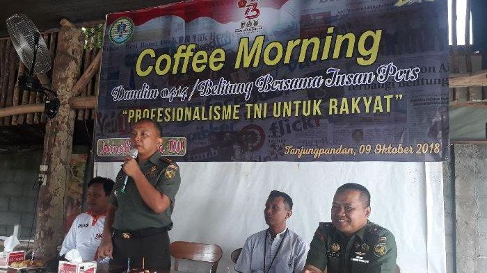 Dandim 0414 Belitung Jalin Silaturahmi Bersama Awak Media