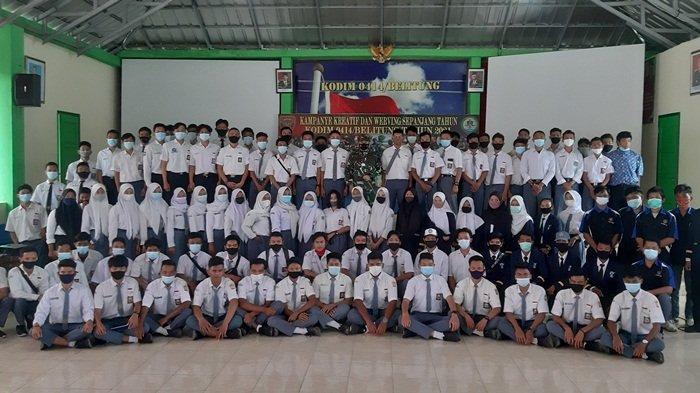 Tingkatkan Minat Ikuti Seleksi Prajurit TNI AD, Dandim 0414 Belitung Undang Pelajar se Belitung
