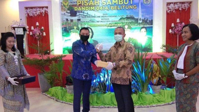 Indra Padang Titip Belitung kepada Mustofa Akbar, Tradisi Sambut Dandim 0414 Belitung yang Baru