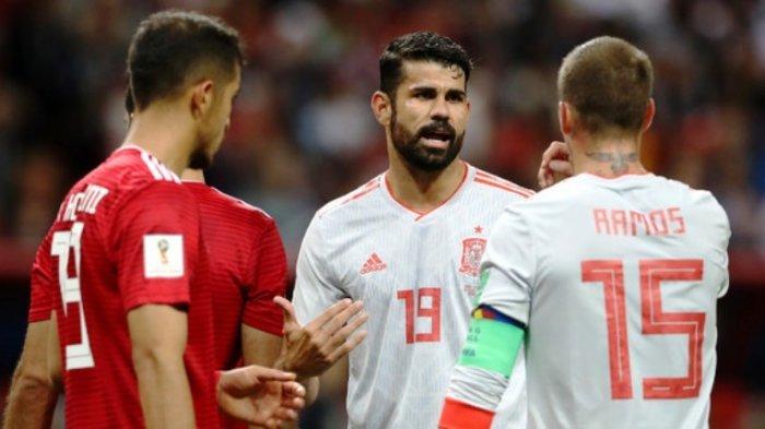 Gol Tunggalnya Menangkan Spanyol Atas Iran, Diego Costa Ngamuk saat Diwawancarai Jurnalis