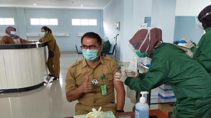 Baru 1 Hari, Penerima Vaksin Covid-19 di RSUD Marsidi Judono Tersisa 8 Orang, Target 4 Hari Selesai