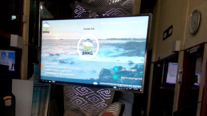 BMKG Tanjungpandan Pasang Display Prakiraan Cuaca di PPI Tanjungpandan