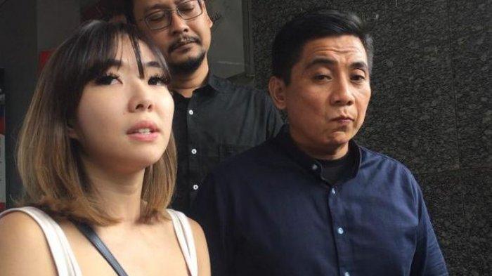 Penyanyi Gisella Anastasia saat ditemui di Gedung Ditreskrimum Polda Metro Jaya, Jumat (14/2/2020).