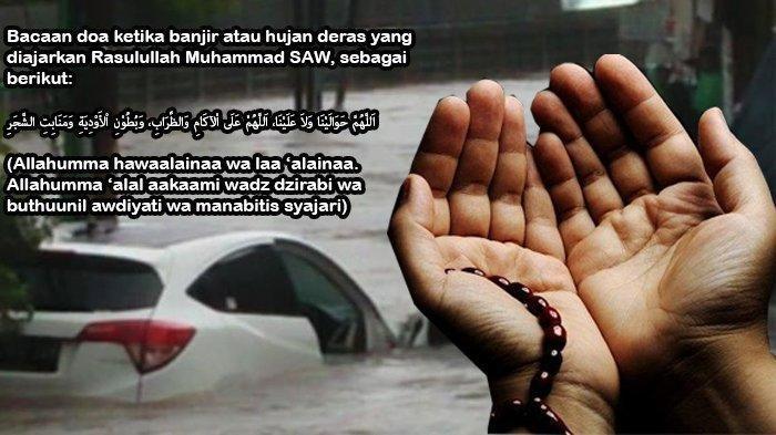 Ini Bacaan Doa Ketika Banjir Bandang, Cocok Dipanjatkan saat ini Jakarta & Bekasi Terendam Banjir
