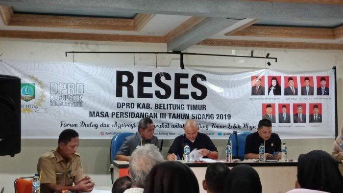 DPRD Belitung Menjaring dan Menghimpun Aspirasi Masyarakat