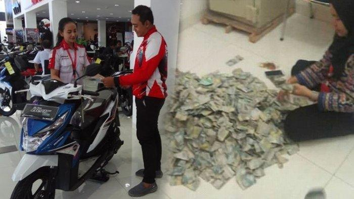 Ibu di Bone Sulawesi Selatan ini Beli Sepeda Motor Menggunakan Uang Rp 2000-an, Menabung 10 Tahun