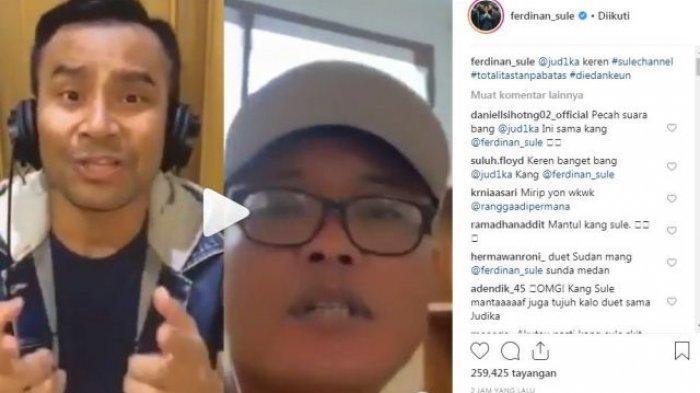 Sule dan Judika Digelar 'Suntak' Saat Menyanyikan Lagu 'Jadi Aku Sebentar Saja'