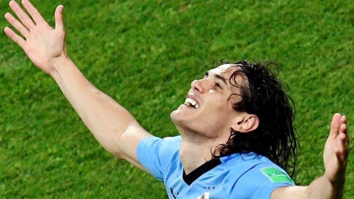 Maksimalkan Umpan Suarez, Edinson Cavani Bawa Uruguay Unggul Atas Portugal di Babak Pertama