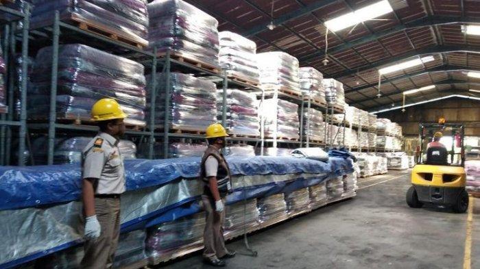 Sebanyak 1.169,28 ton Karet Lempengan Pulau Bintan Diekspor ke China, Korsel dan Mesir