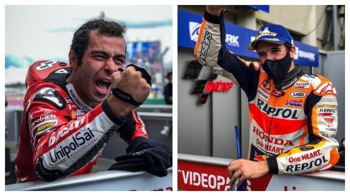 Hasil MotoGP Prancis 2020, Danillo Petrucci dan Alex Marquez Kompak Ukir Sejarah Baru, Rossi Ambyar
