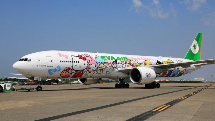 Qantas, Westjet dan EVA Air, Ini 5 Pesawat Paling Banyak Warna, Ada Gambar Tokoh Kartun Hello Kitty