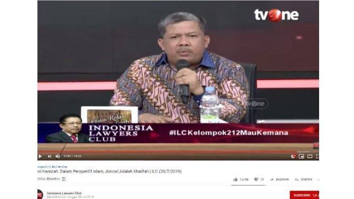 Sambil Gebrak Meja di ILC, Fahri Hamzah Sebut Jangan Bikin Masalah yang Tak Perlu