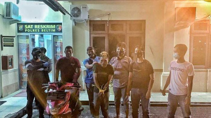 Saat Gadai Motor Curiannya, Feriza Dibekuk Tim Opsnal Satreskrim Polres Belitung Timur