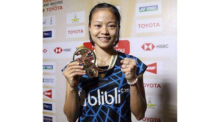 Pebulu Tangkis Fitriani Juara Thailand Masters 2019, Wakil Tuan Rumah Takluk Dua Set Langsung