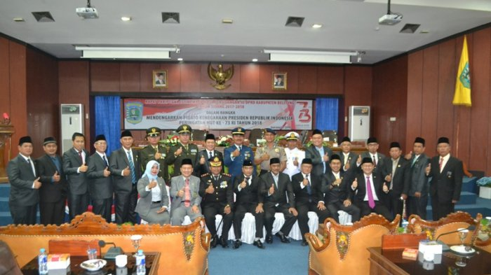DPRD Belitung Gelar Rapat Paripurna Istimewa, Dengarkan Pidato Kenegaraan Presiden