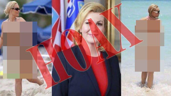 Foto Presiden Kroasia Pakai Bikini di Pantai Ternyata Hoax. Ini Faktanya