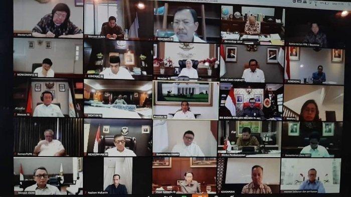 Erick Thohir Laksanakan Rapat Online Bersama Jajaran Kabinet Indonesia Maju, Antisipasi Virus Corona
