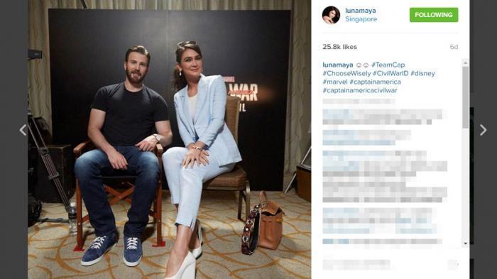Foto Luna Maya Bersama Pemeran Captain Amerika Bikin Heboh, Kenapa ya?