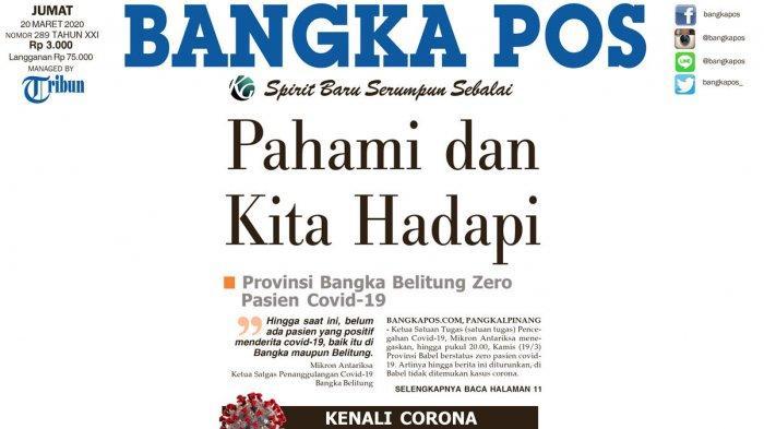 Bangka Pos dan Pos Belitung Kompak Hadapi Covid-19 - frontpage-bapos.jpg