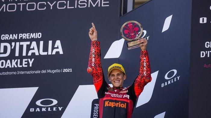 Kabar Bahagia, Tim Indonesian Gresini Moto3 Duduki Podium Ketiga MotoGP Italia 2021
