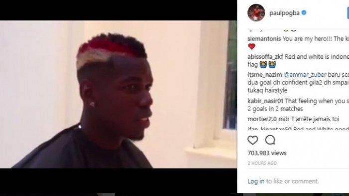 Lihat Ada Warna Bendera Indonesia di Model Rambut Terbaru Paul Pogba