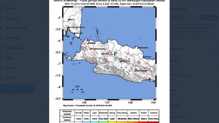 Gempa 3.2 Mag Guncang Bekasi, Berikut Ini Penjelasan Soal Prediksi Gempa Megathrust Pulau Jawa