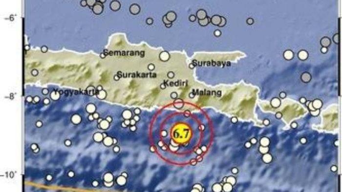 Gempa 6,7 SR Berpusat di Malang, Ini Penjelasan BMKG, Getarannya Sampai ke Lombok Hingga Bali