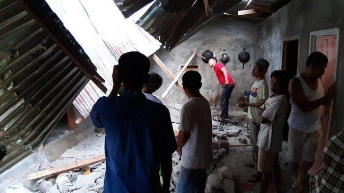 Gempa Sumbar, 2 Rumah Rusak Berat dan 2 Rusak Ringan di Nagari Lubuk Besar Dharmasraya.