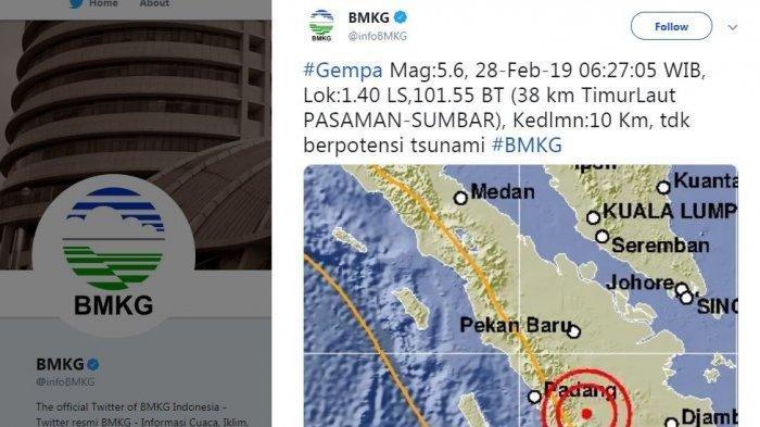 Gempa Sumbar Ikut Terasa di Merangin Jambi, Bangunan Rumah Berbunyi, Warga Berlarian