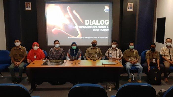 BP Geopark Belitong dialog dengan wartawan di Pusat informasi Geologi (PIG) Kecamatan Kelapa Kampit Belitung Timur, Sabtu (12/9/2020) lalu.