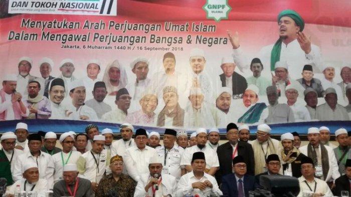 GNPF Resmi Dukung Prabowo-Sandiaga, Ini 17 Pakta Integritas yang Disepakati