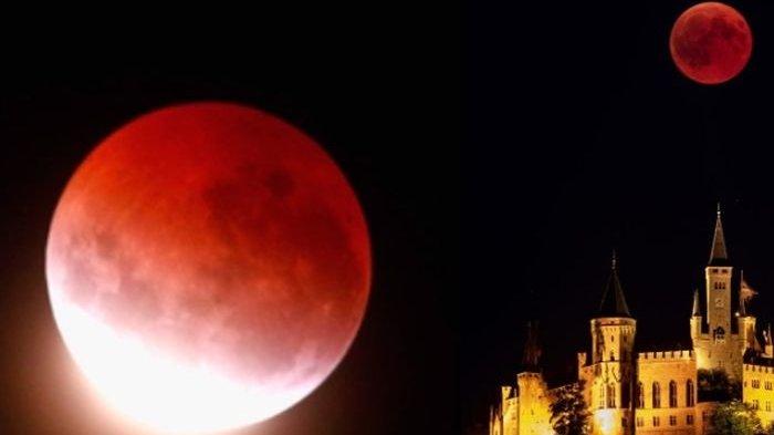 Lihat 8 Foto Gerhana Bulan Blood Moon, Diambil dari Luar Angkasa dan Berbagai Negara di Dunia
