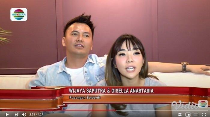 Penyanyi Gisella Anastasia dan Wijaya Kusuma alias Wijin dalam kanal YouTube Indosiar, Selasa (10/11/2020). Ia angkat bicara menanggapi video syur yang diduga mirip dirinya.