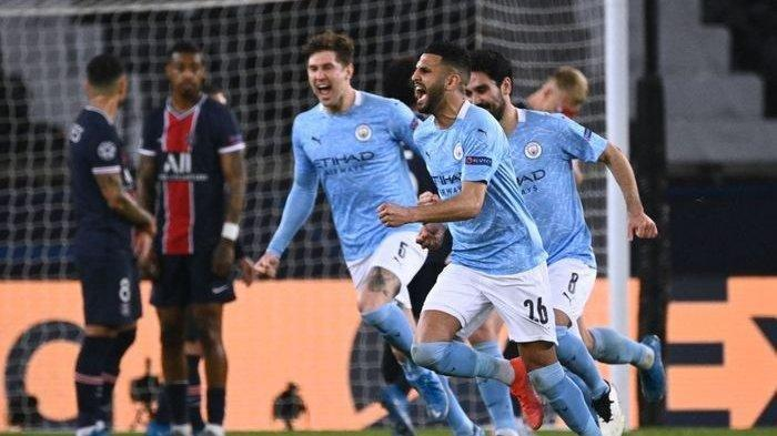 Live Streaming di SCTV, Tensi Panas Manchester City vs PSG di  Liga Champions