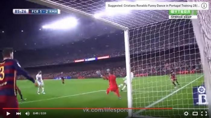 (Video) Inilah Gol Cristiano Ronaldo Permalukan Barcelona di Kandang Sendiri