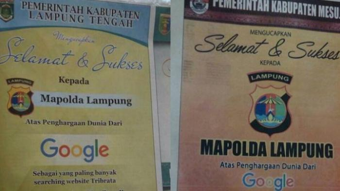 Beredar Kabar Bos Google Beri Ucapan Selamat dan Sukses Kepada Polda Lampung?