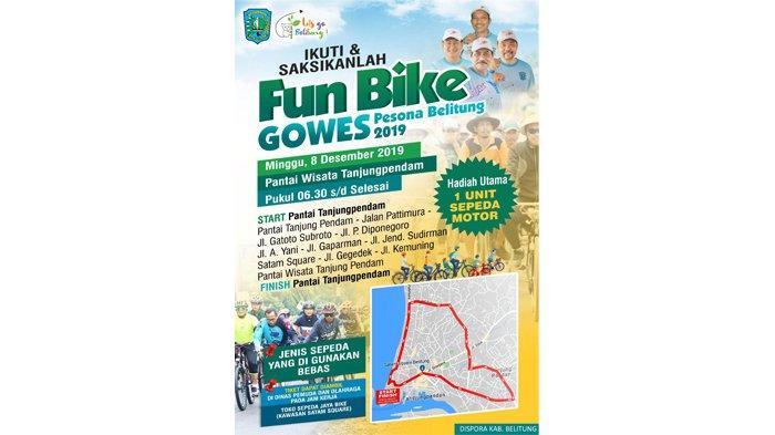Fun Bike Gowes Pesona Belitung 2019 Tempuh Jarak 10 Km, Raih Hadiah Menarik Total Senilai Rp 60 Juta