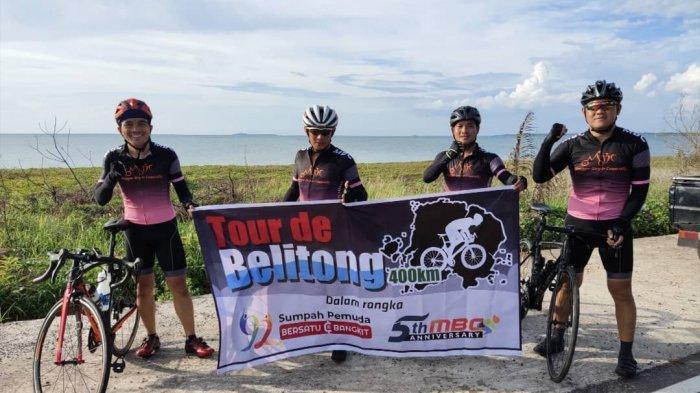 Peringati Sumpah Pemuda, MBC Gowes 411 Kilometer Keliling Pulau Belitung